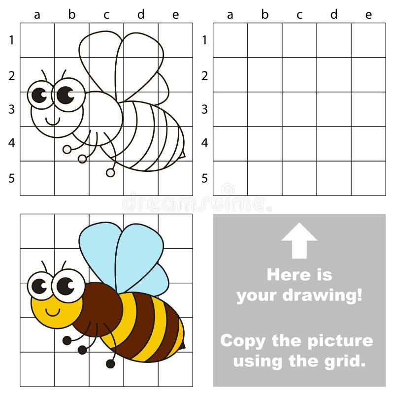 Kopiuje wizerunek używać siatkę Pszczoła ilustracji