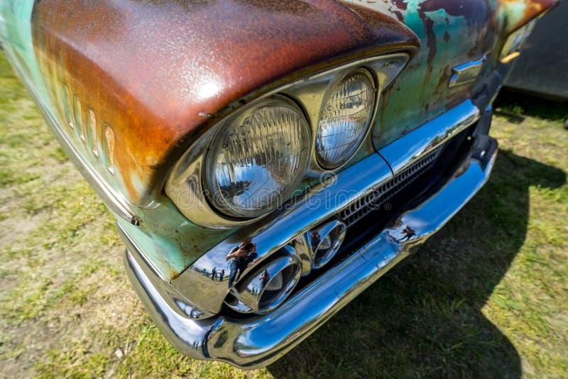 Koplamp van de generatie van Chevrolet Bel Air Third van de ware grootteauto royalty-vrije stock fotografie