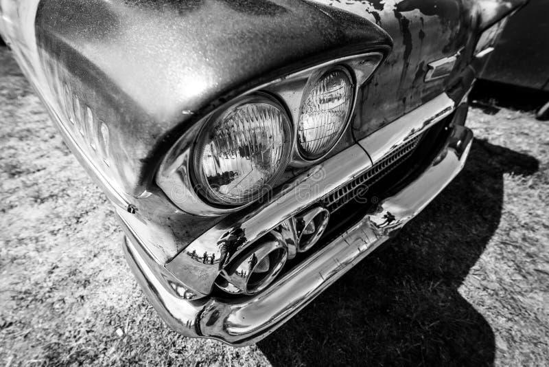 Koplamp van de generatie van Chevrolet Bel Air Third van de ware grootteauto stock afbeeldingen