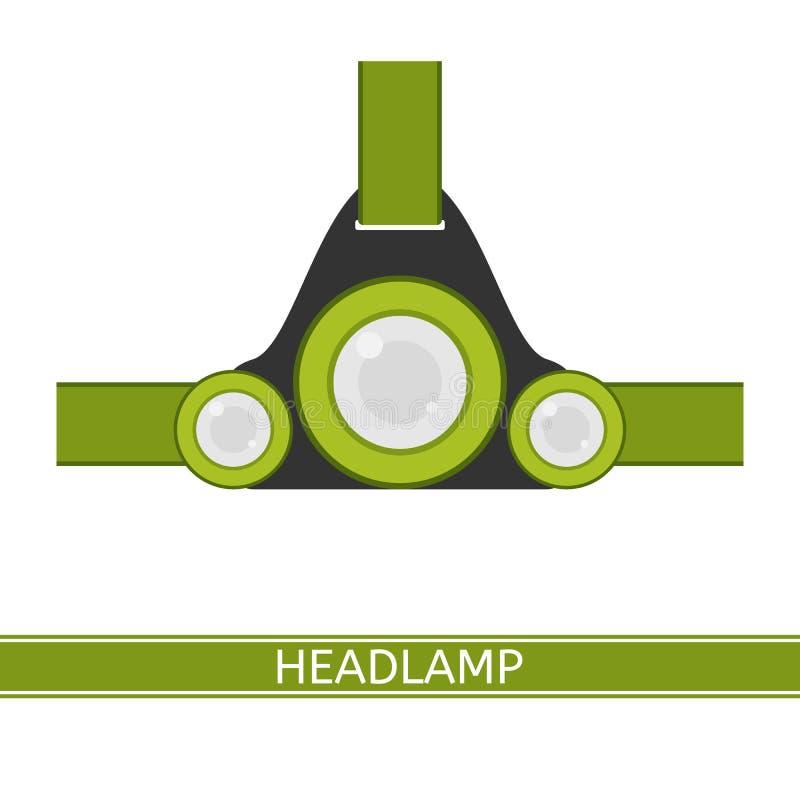 Koplamp Vectorpictogram royalty-vrije illustratie
