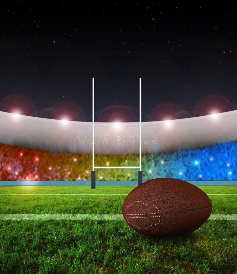 kopnięcia noc kary rugby ilustracja wektor