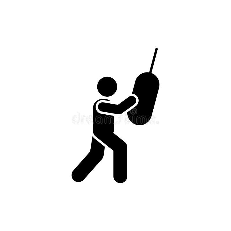 Kopnięcie, boks, mężczyzna, sprawność fizyczna, gym ikona Element gym piktogram Premii ilo?ci graficznego projekta ikona znaki i  ilustracji