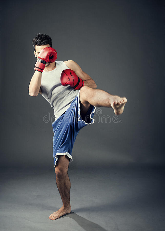 Kopnięcie bokser zdjęcia royalty free