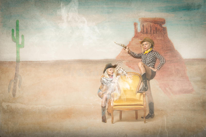 Kopojkeskytte i ett västra läge royaltyfri fotografi