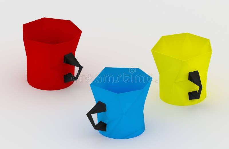 3 kopp arkivbild