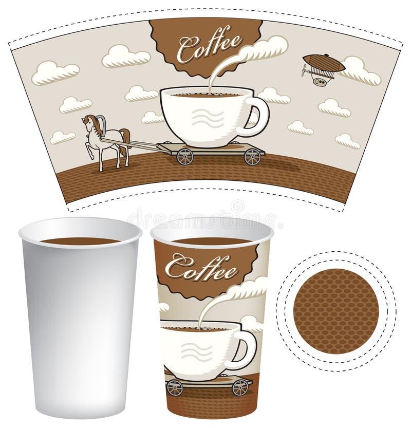 Kopp av kaffe vektor illustrationer