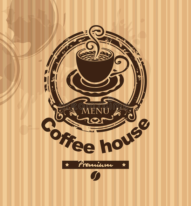 Kopp av kaffe stock illustrationer
