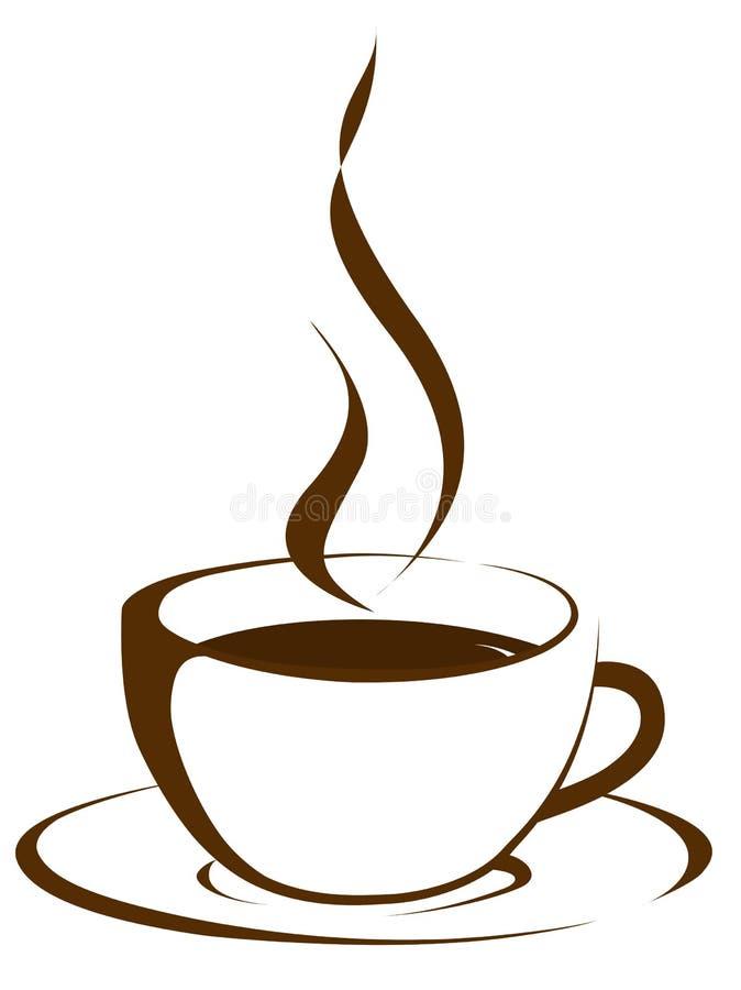 Kopp av kaffe med ånga vektor illustrationer