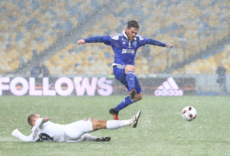 Kopp av Ukraina: FC Dynamo Kyiv V Zorya Luhansk arkivbild