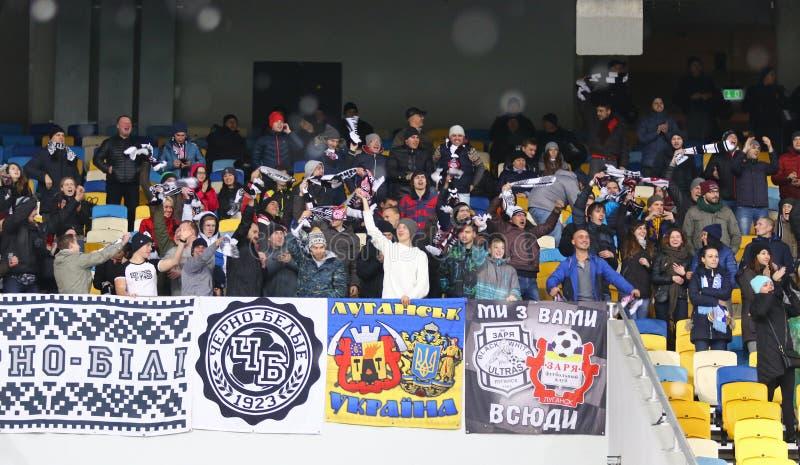 Kopp av Ukraina: FC Dynamo Kyiv V Zorya Luhansk i Kiev arkivbilder