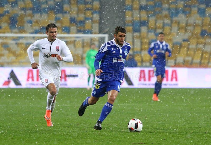 Kopp av Ukraina: FC Dynamo Kyiv V Zorya Luhansk i Kiev arkivfoton