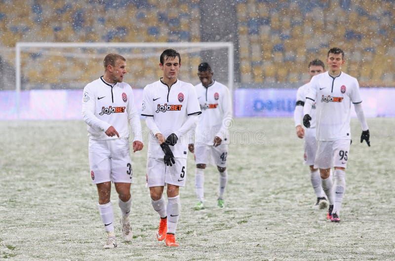 Kopp av Ukraina: FC Dynamo Kyiv V Zorya Luhansk i Kiev royaltyfria foton