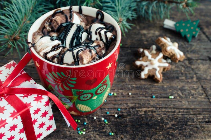 Kopp av varm drinkkakao för vinter royaltyfri bild