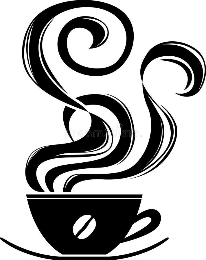 Kopp av varmt kaffe vektor illustrationer