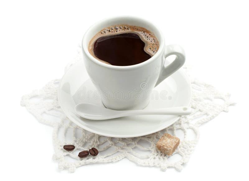 Kopp av varmt kaffe arkivfoton