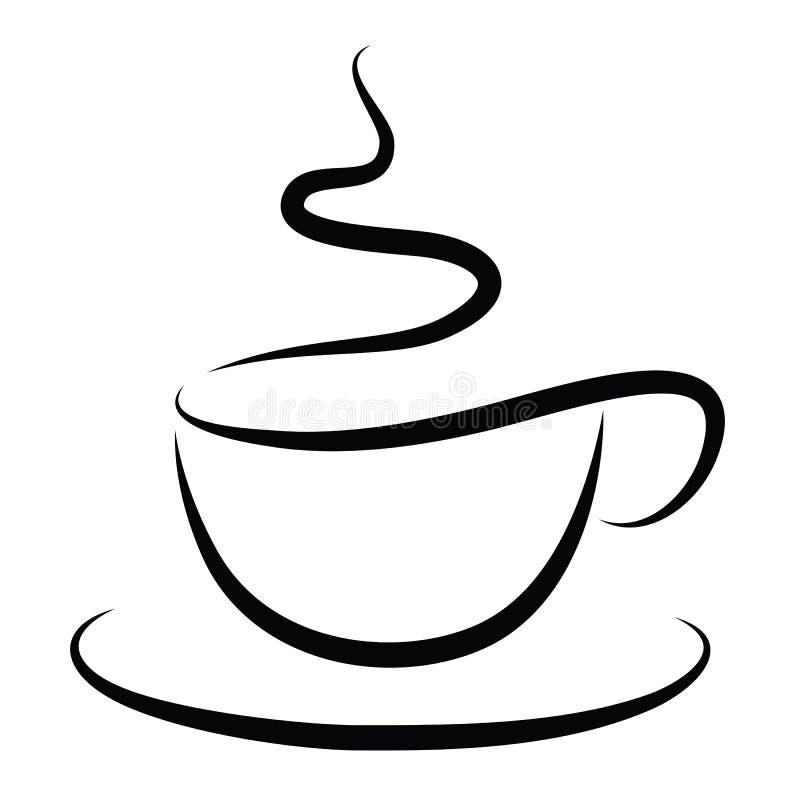 Kopp av varmt kaffe royaltyfri illustrationer