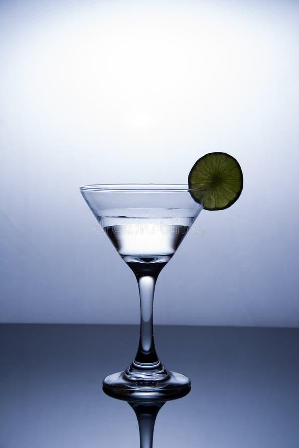 Kopp av vodka på vit bakgrund royaltyfri fotografi