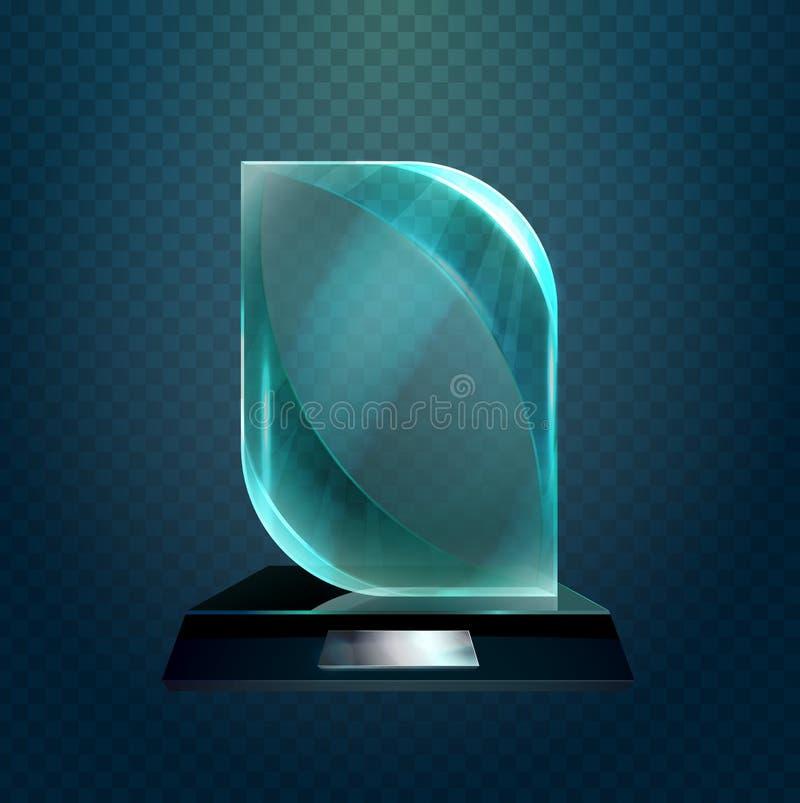 Kopp eller trofé för vinnareglasföremålutmärkelse royaltyfri illustrationer