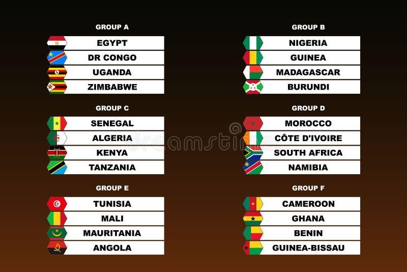 Kopp för Afrika nationfotboll royaltyfri illustrationer