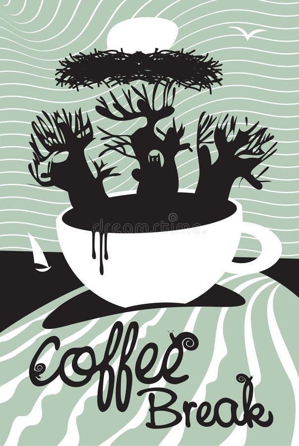 Kopp för kaffe vektor illustrationer