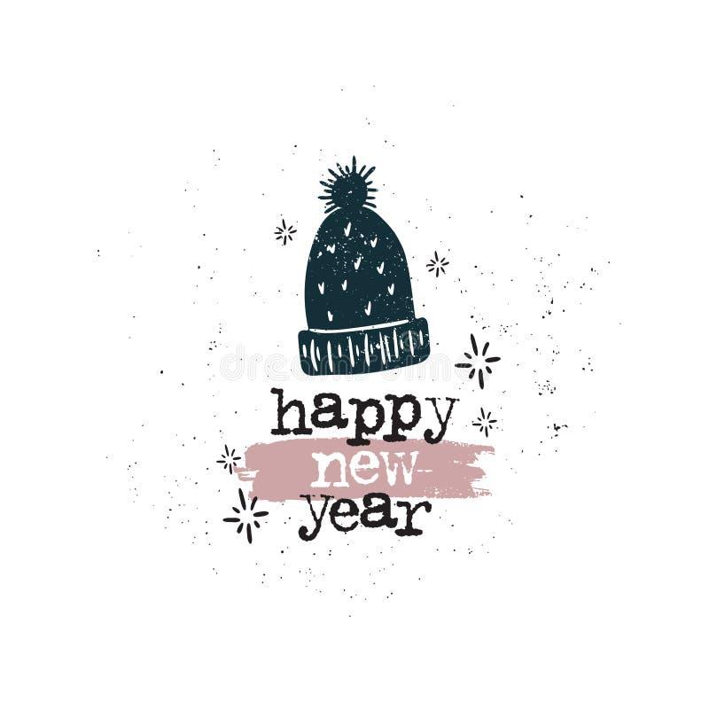 Kopp för lyckligt nytt år stock illustrationer