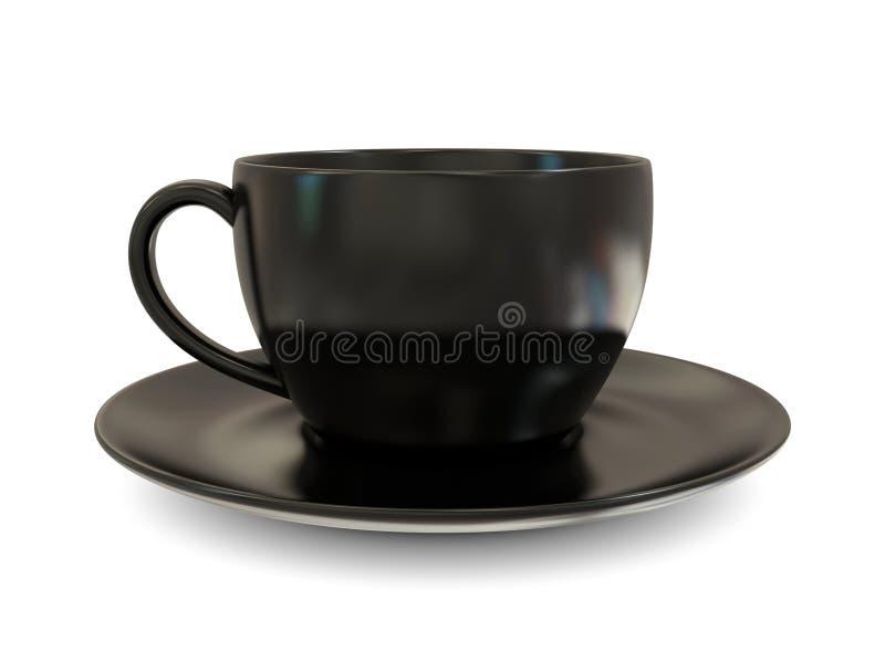 kopp för svart kaffe stock illustrationer