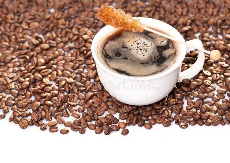 kopp för svart kaffe royaltyfri fotografi