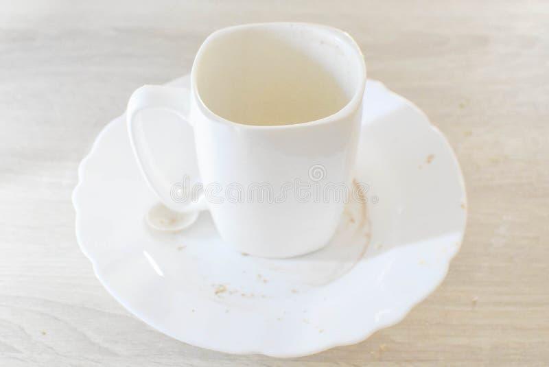 Kopp för vitt kaffe, morgondrink royaltyfri foto