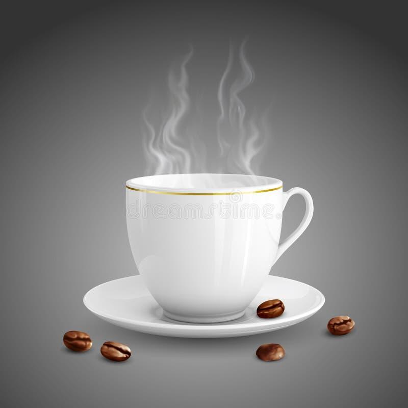Kopp kaffe royaltyfri illustrationer