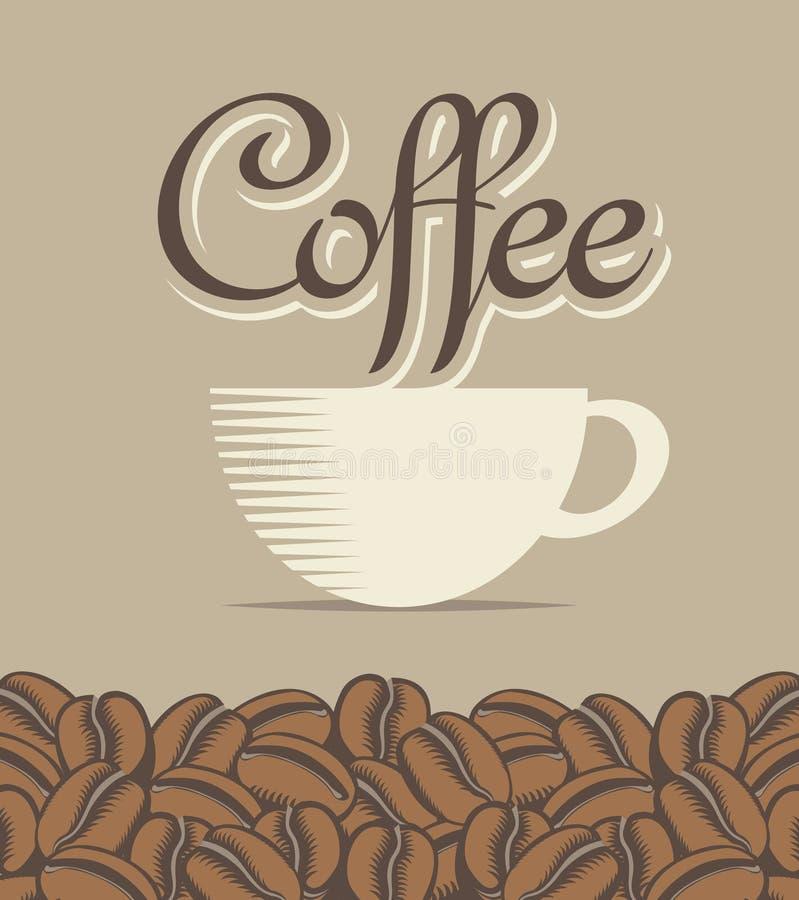 Kopp kaffe stock illustrationer