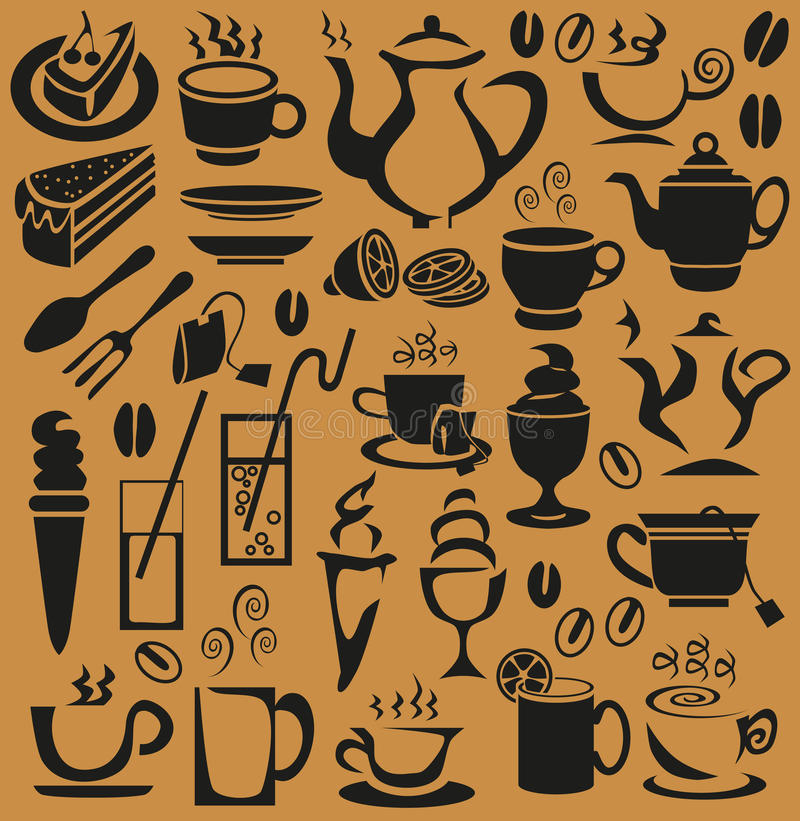 Kopp kaffe stock illustrationer