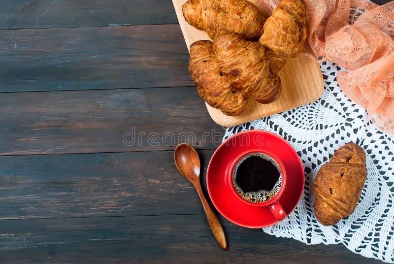Kopp kaffe och giffel royaltyfri foto