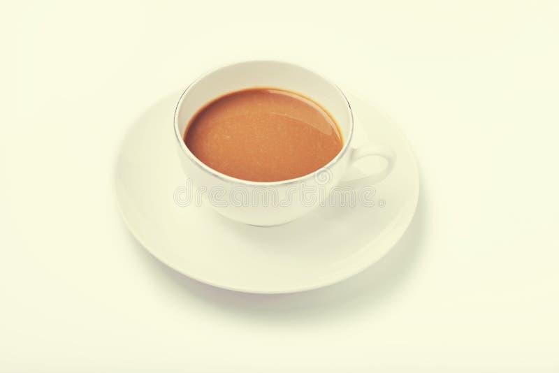 Kopp kaffe retro blick fotografering för bildbyråer