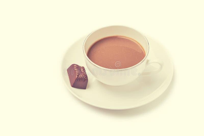 Kopp kaffe retro blick royaltyfri foto