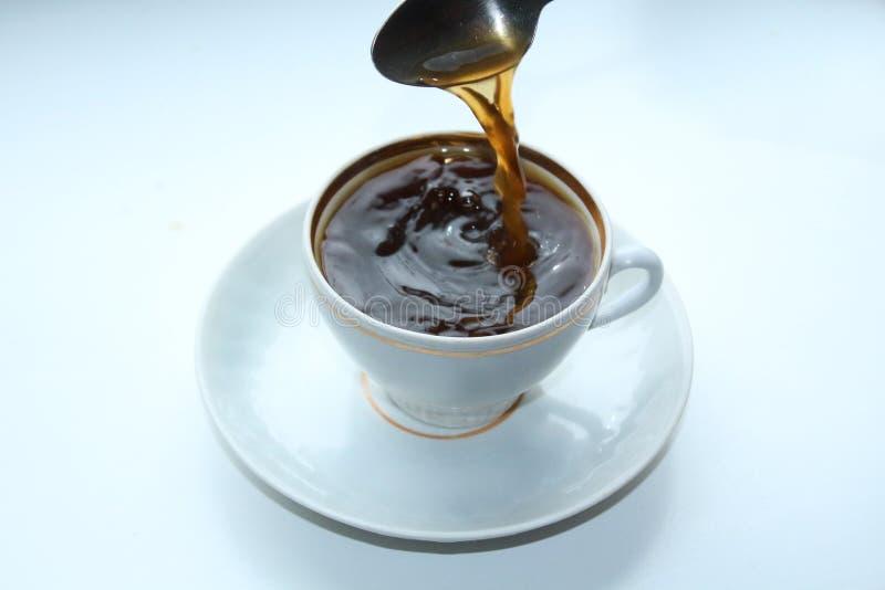 Kopp kaffe svart royaltyfri bild