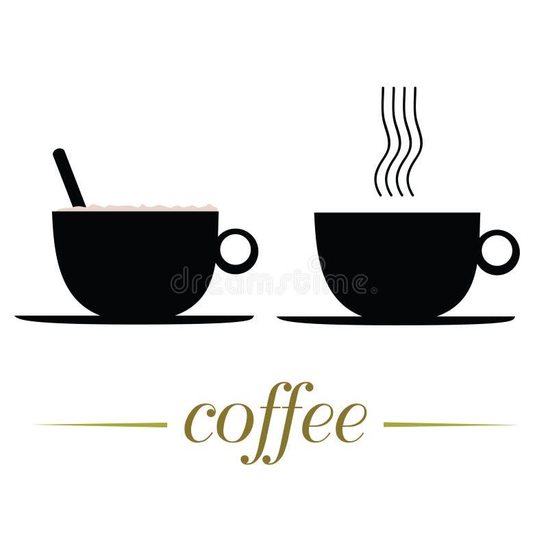 Kopp kaffevektorillustration på en vit royaltyfri illustrationer