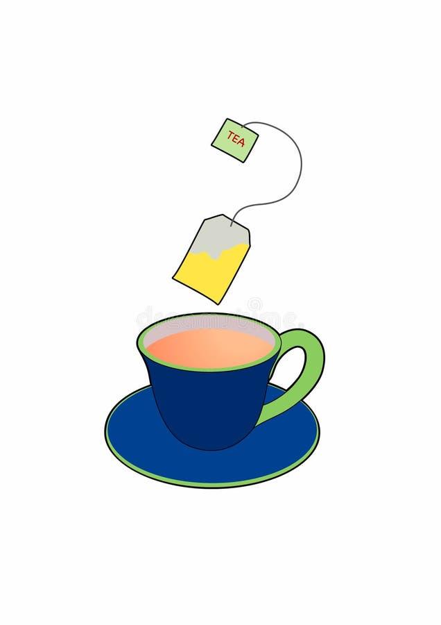 Kopp och tepåse vektor illustrationer