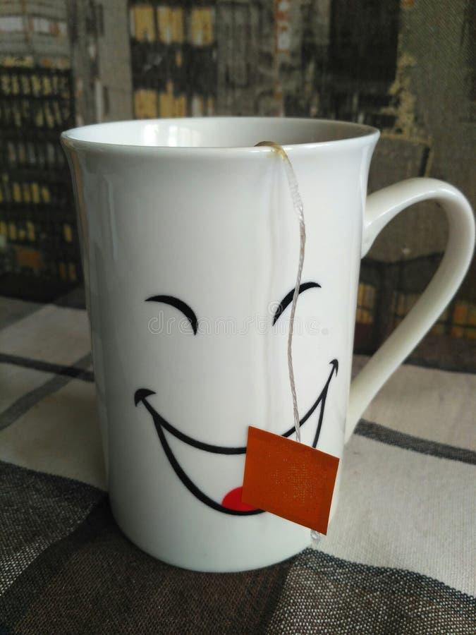 Kopp te i morgonen royaltyfri fotografi