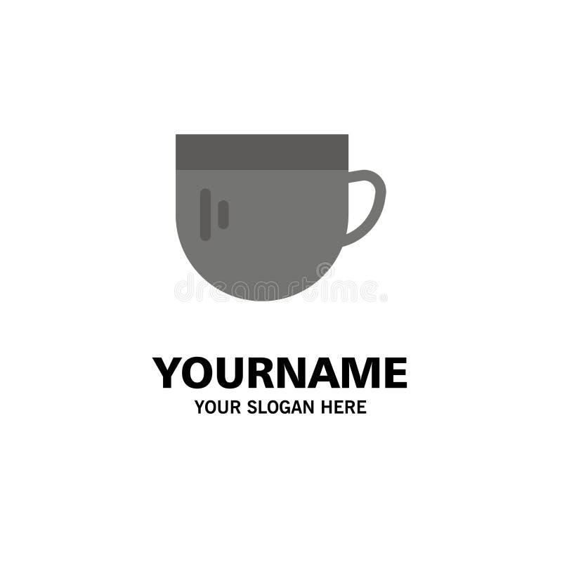 Kopp te, kaffe, grundläggande affär Logo Template plan f?rg royaltyfri illustrationer