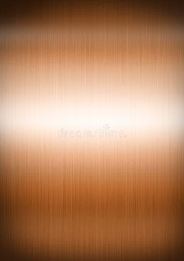 Koppar borstad metallbakgrundstextur arkivfoto