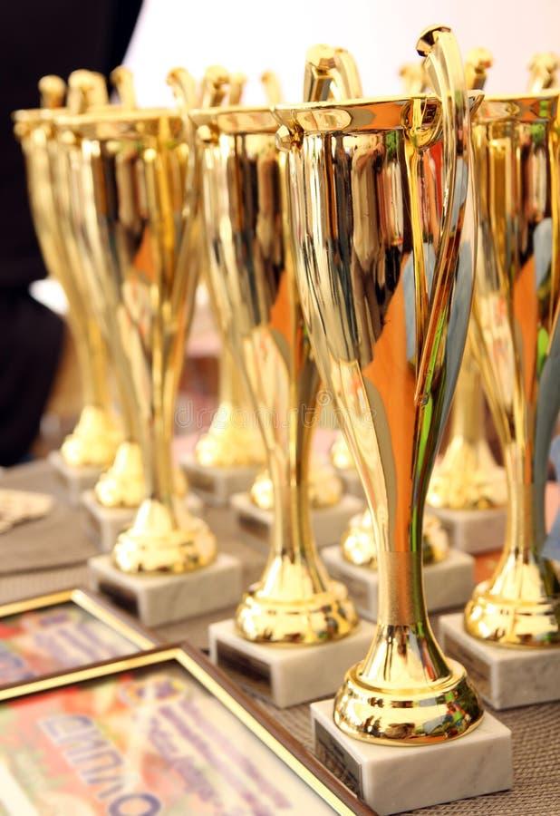 Koppar för vinnare fotografering för bildbyråer