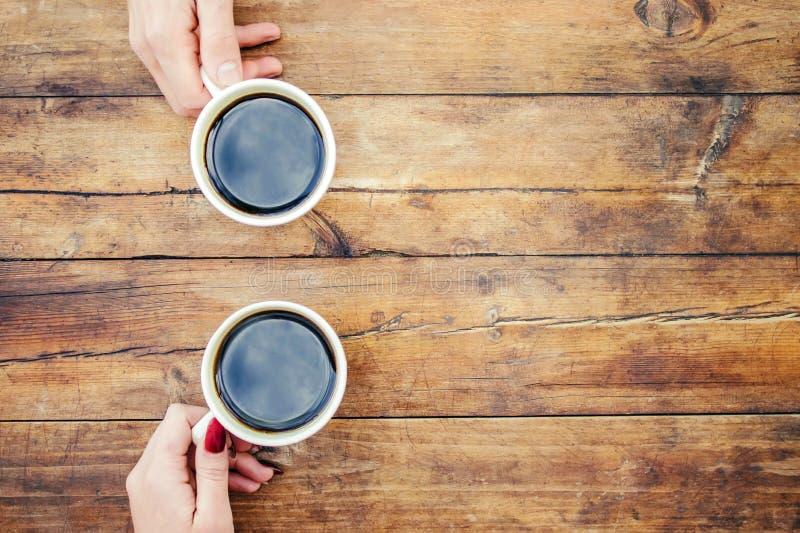 Koppar med ett kaffe royaltyfri foto