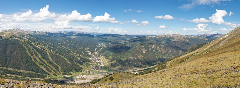 Kopparberg Ski Area Panorama royaltyfri bild