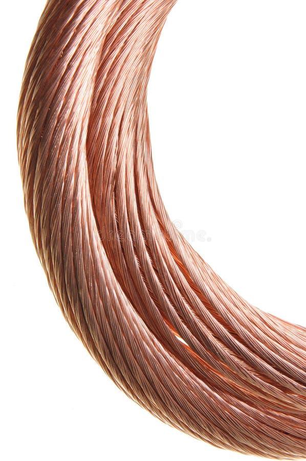 Kopparkabel, icke järnhaltiga metaller arkivfoton