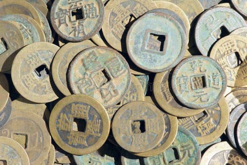 Kopparpengar arkivbilder