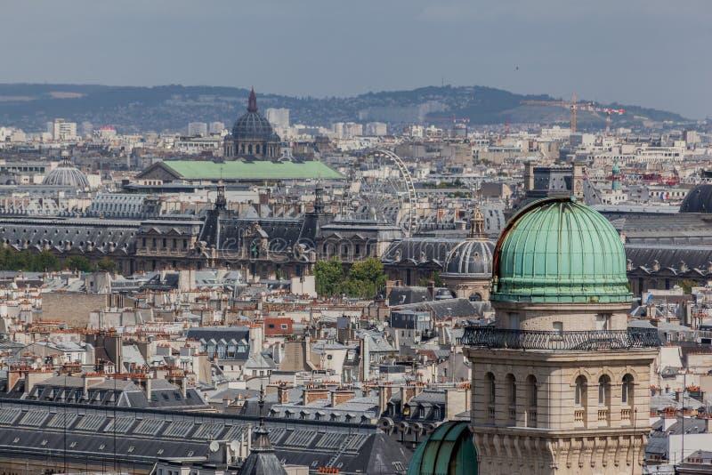 koppartorn för france paris taksorbonne arkivbilder