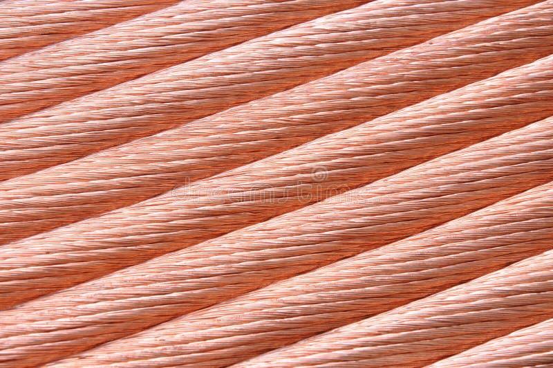 Koppartråd för strömindustrien royaltyfri bild