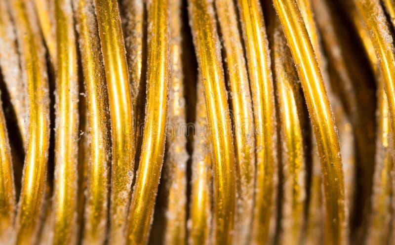 Koppartråd som en bakgrund royaltyfri foto