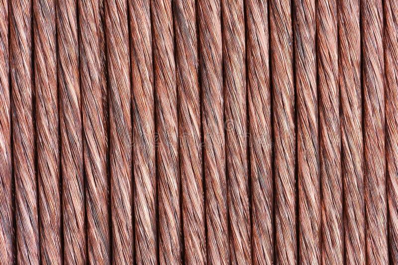 Koppartråd som industriell bakgrund royaltyfria foton