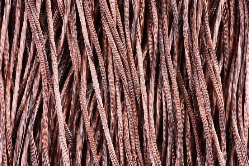 Koppartråd som industriell bakgrund royaltyfri bild